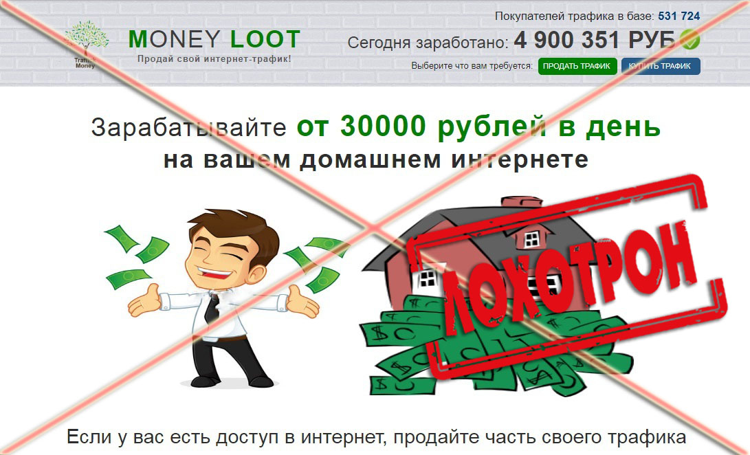 Лохотрон Money Loot отзывы