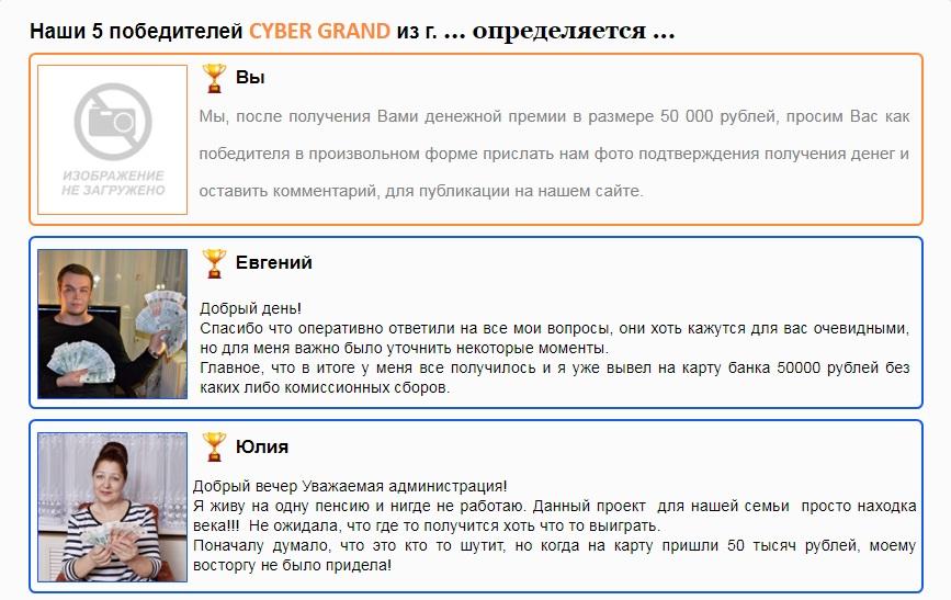 Cyber Grand отзывы