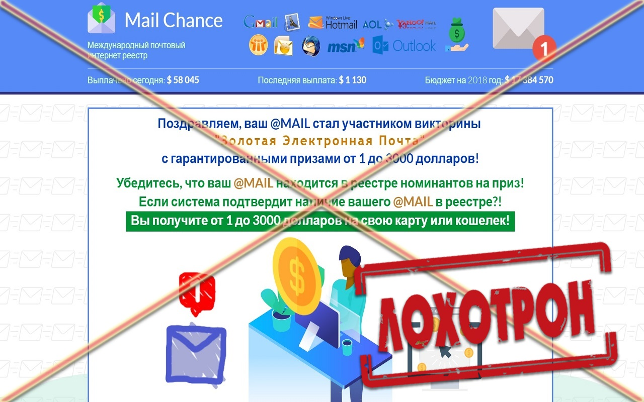 Лохотрон викторина Золотая Электронная Почта отзывы